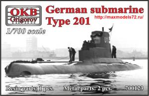 OKBN700123   German submarine Type 201 (thumb41329)