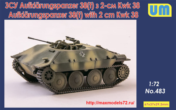 UM483   Aufklarungspanzer 38(t) with 2cm Kwk38 (thumb40122)