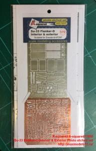 A-squared72010   Su-33 Flanker-D Interior & Exterior Photo etched set (thumb42931)