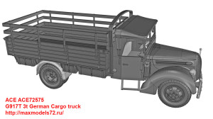 ACE72575   G917T 3t German Cargo truck (attach5 41033)