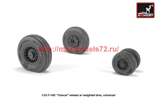AR AW32310   1/32 F-14 Tomcat late type wheels w/ weighted tires (thumb41161)