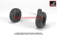 AR AW35303   1/35 UH-60 Black Hawk wheels w/ weighted tires (attach3 41176)