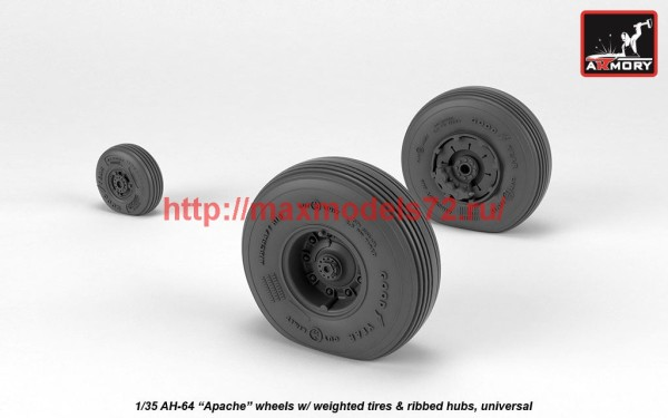 AR AW35305   1/35 AH-64 Apache wheels w/ weighted tires, spoked hubs (thumb41186)