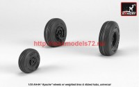 AR AW35305   1/35 AH-64 Apache wheels w/ weighted tires, spoked hubs (attach1 41186)