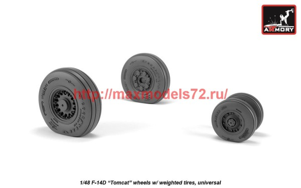 AR AW48327   1/48 F-14 Tomcat late type wheels w/ weighted tires (thumb41200)