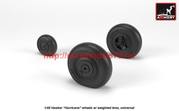 "AR AW48414   1/48 Hawker ""Hurricane"" wheels w/ weighted tires (thumb41220)"