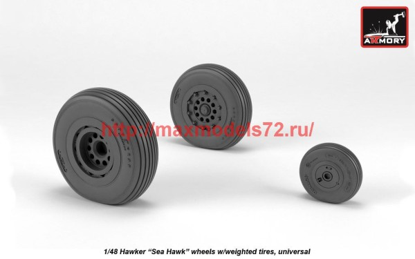 "AR AW48415   1/48 Hawker ""Sea Hawk"" wheels w/ weighted tires (thumb41225)"