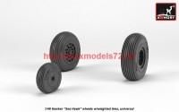 AR AW48415   1/48 Hawker «Sea Hawk» wheels w/ weighted tires (attach3 41225)