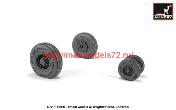 AR AW72331   1/72 F-14A/B Tomcat wheels w/ weighted tires (thumb41230)