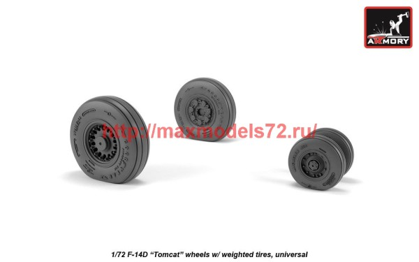 AR AW72332   1/72 F-14D Tomcat wheels w/ weighted tires (thumb41235)