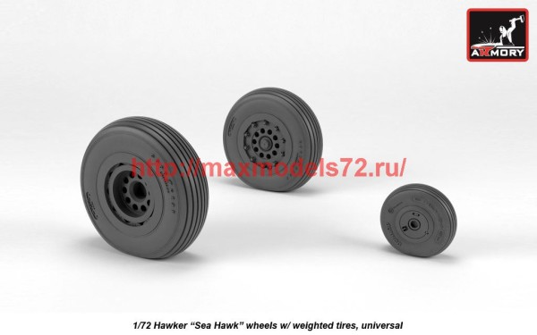 "AR AW72417   1/72 Hawker ""Sea Hawk"" wheels with weighted tires (thumb41265)"