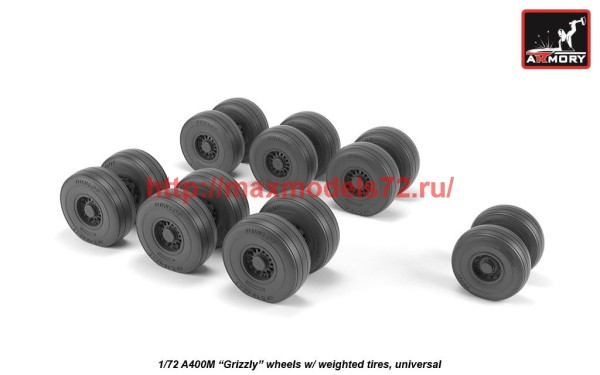 "AR AW72506   1/72 A400M ""Grizzly"" wheels w/ weighted tires (thumb41270)"