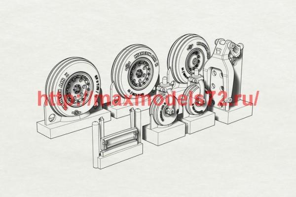 BRL72185   AV8B Wheels  (Hasegawa kit) (thumb40809)