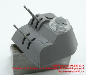 OKBB72016   Turret for Pz.V Panther, 2 cm Flakvierling, Rheinmetall proposal (thumb41864)