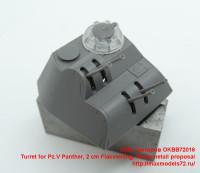OKBB72016   Turret for Pz.V Panther, 2 cm Flakvierling, Rheinmetall proposal (attach4 41864)