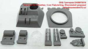 OKBB72016   Turret for Pz.V Panther, 2 cm Flakvierling, Rheinmetall proposal (attach5 41864)