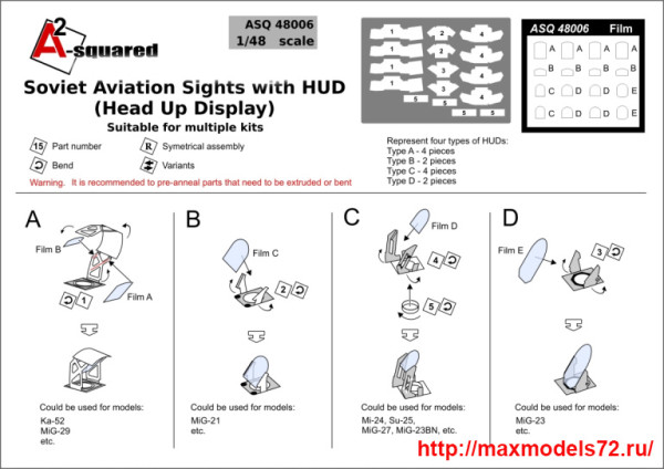 A-squared48006   Soviet Aviation Sights with HUD (Head Up Display). Suitable for multiple kits (thumb40715)