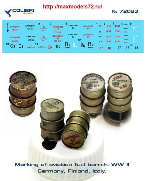 CD72083   Marking of aviation fuel barrels WWII (thumb40932)