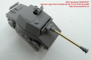 OKBV72077   German Light Tank Pz.Kpfw.38 mit 7.5 cm KwK 40 (L/48) (attach9 42597)