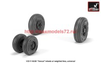 AR AW32309   1/32 F-14 Tomcat early type wheels w/ weighted tires (attach3 41156)
