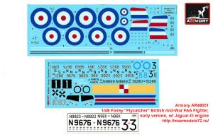 "AR48001   1/48 Fairey ""Flycatcher"" British mid-War FAA Fighter, early version, w/ Jaguar-III engine (attach5 41749)"