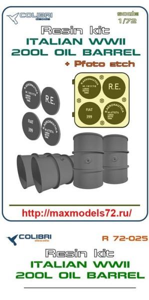 CDR72025   Italian WWII 200 l oil barrel (thumb41428)