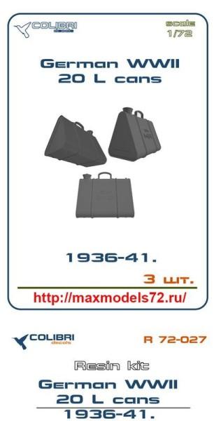 CDR72027   German WWII 20 L oil barrel 36-41 (thumb41433)