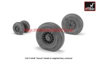 AR AW32309   1/32 F-14 Tomcat early type wheels w/ weighted tires (attach2 41156)