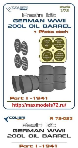 CDR72023   German WWII 200 l oil barrel 41-41  Part I (thumb41420)