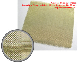 A-squared72009   Brass Wire Mesh   cell size 0.16 mm  Plate size 50 x 50 mm (attach1 41401)