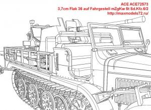 ACE72573   3,7cm Flak 36 auf Fahrgestell mZgKw 5t Sd.Kfz.6/2 (attach8 43771)
