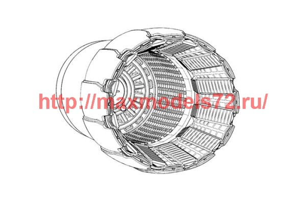 BRL48126   F-16C-D block 40-50 GE F110 engine nozzle (Tamiya) (thumb42069)