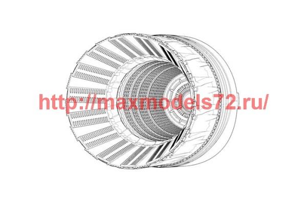BRL48127   F-16C-D block 42-52 P&W F100 engine nozzle (Tamiya) (thumb42073)
