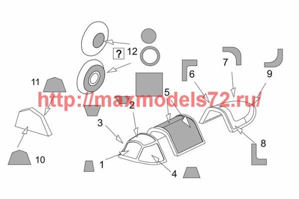 BRL72199   Yak-1b Vacu Canopy masks (Brengun kit) (thumb42047)