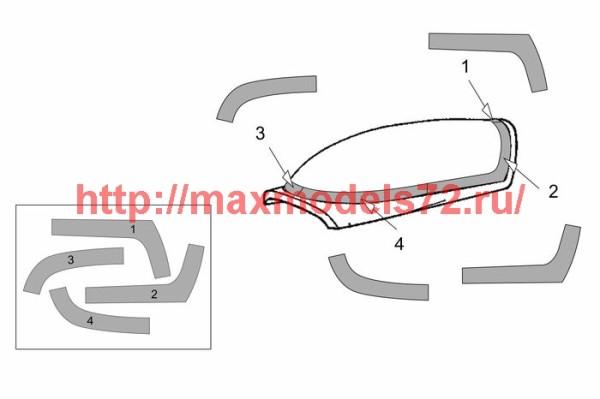 BRL72202   Extra EA-300L-330LC Canopy masks (Brengun kit) (thumb42058)