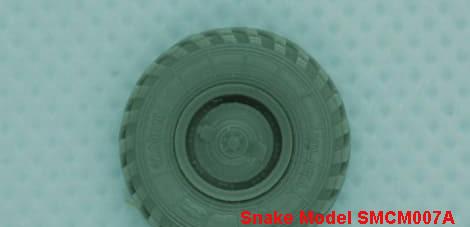 """SMCM007A   Набор колес КИ-115ФМ тип ступицы А  для автомобиля ГАЗ ТИГР 1/72     wheels  for  ACE72177   STS """"Tiger"""" (attach1 42255)"""