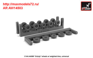 """AR AW14503   1/144 A400M """"Grizzly"""" wheels w/ weighted tires (thumb41740)"""
