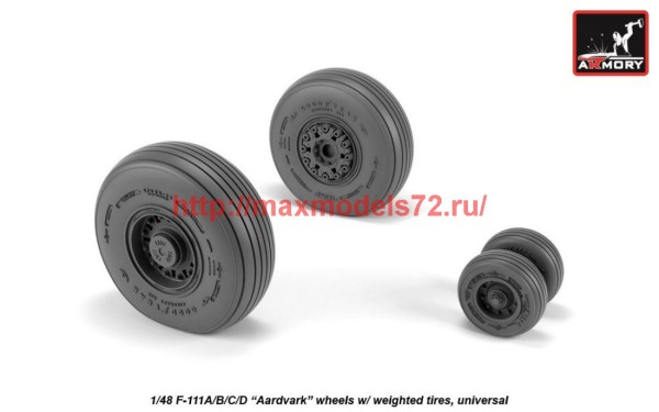 AR AW48319   1/48 F-111 Aardvark early type wheels w/ weighted tires (thumb42273)