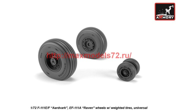 AR AW72338   1/72 F-111 Aardvark late type wheels w/ weighted tires (thumb42283)
