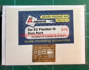 A-squared72014   Su-33 gun port (photoetched detailing set) for Zvezda kit (thumb45776)