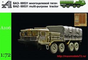 AMinA106   БАЗ-69531 многоцелевой тягач   BAZ-69531 multi-purpose tractor (thumb42945)