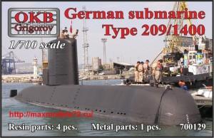 OKBN700129   German submarine Type 209/1400 (thumb42608)