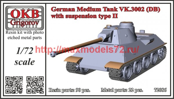 OKBV72086   German Medium Tank VK.3002 (DB) with suspension type II (thumb49441)