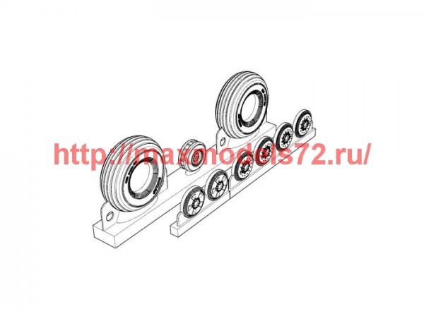 BRL72206   DH 98 Mosquito wheels (thumb42520)