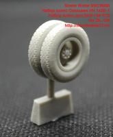 SMCM006   Набор колес Омскшин ИН-142Б-1 Набор колес для ЗИЛ-130 1/72  for ZIL-130 (attach3 42249)