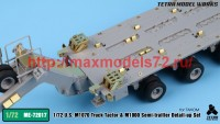 TetraME-72017   1/72 US M1070 & M1000 Trailer Detail-up Set (for Takom) (attach8 47945)