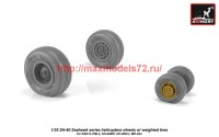 AR AW35302   1/35 SH-60 Seahawk wheels w/ weighted tires (attach2 42268)