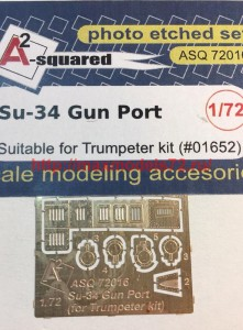 A-squared72016   Su-34 gun port (photoetched detailing set) for Trumpeter kit (thumb45784)