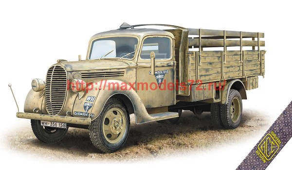 ACE72580   G917T 3t German Cargo truck (metal cab) (thumb52286)