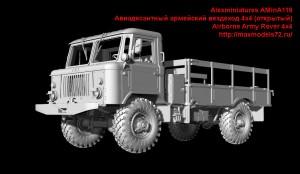 AMinA119   Авиадесантный армейский вездеход 4х4 (открытый)   Airborne Army Rover 4x4 (attach1 42953)